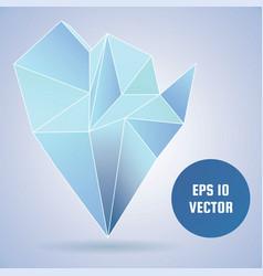 3d magic crystal vector image vector image