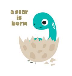 a star is born cute dinosaur vector image