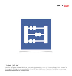 abacus icon - blue photo frame vector image