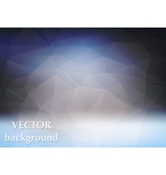 Abstract background of triangles polygon vector image