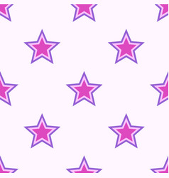 abstract seamless stars pattern vector image