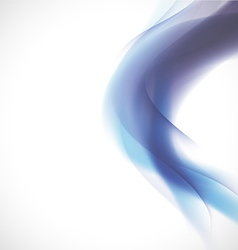 Abstract smooth blue flow background and space vector image vector image