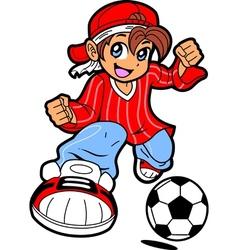 Anime Manga Soccer Player vector