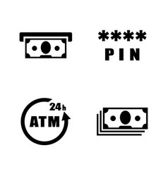 Atm simple related icons vector