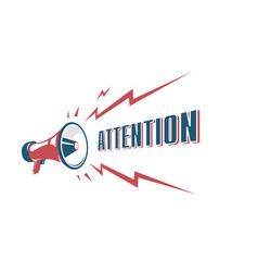 Attention sign with retro megaphone vector