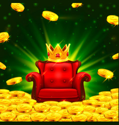 Big win casino king corona chair vector