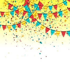Birthday Background with Colorful Garlands vector