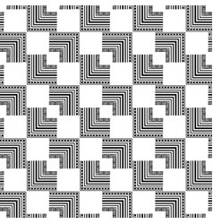 black and white modern zigzag seamless pattern vector image