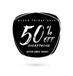 Black Friday Sale with vector