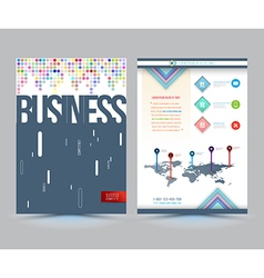 business brochure cover template design vector image