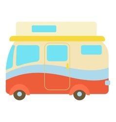 Camper van icon cartoon style vector