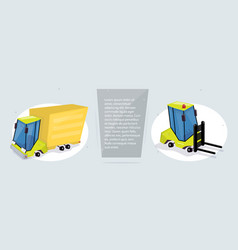 cargo transportation and logistics web banner vector image