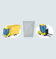 cargo transportation and logistics web banner vector image