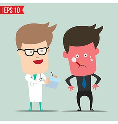 Cartoon Doctor and patient - - EPS10 vector image
