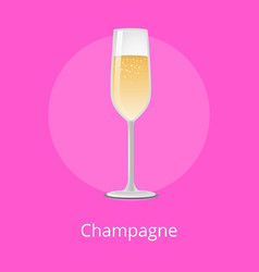 Champagne classical luxury alcohol drink glassware vector