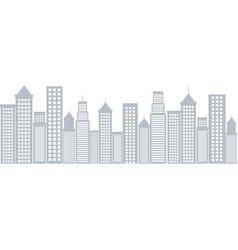 cityscape buildings scene icon vector image