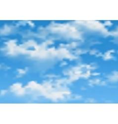 Cloudy sky vector
