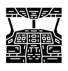 Cockpit glyph icon vector