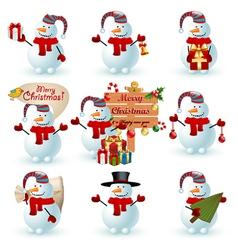 Collection snowman vector