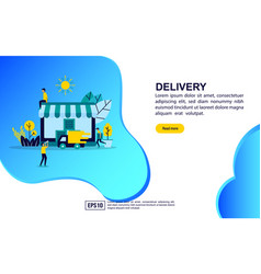 concept delivery modern conceptual for banner vector image