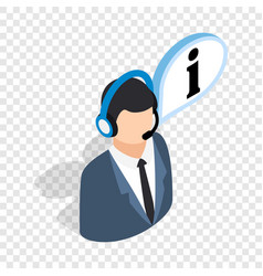 consultant on phone isometric icon vector image