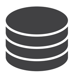Data storage glyph icon web and mobile database vector