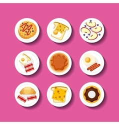 Delicious food infographic set icons vector