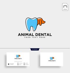 Dental animal consulting logo template vector