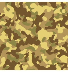 Desert Camouflage Seamless Pattern vector image