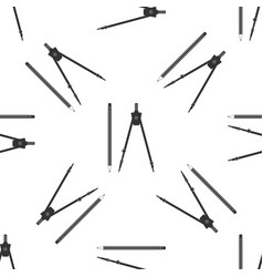 drawing compass and pencil with eraser icon vector image