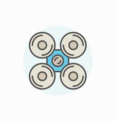 Drone or quadrocopter icon vector