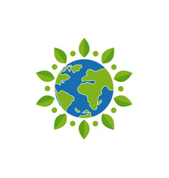 Earth day newhappy day design save tree vector
