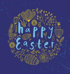 Easter poster card banner brushpen vector