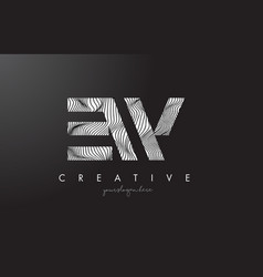 Ew e w letter logo with zebra lines texture vector