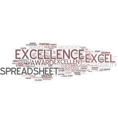 excellence word cloud concept vector image
