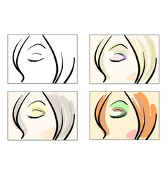 Fashion make uk sketches vector image