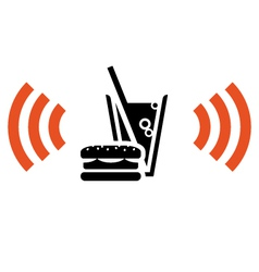 Fast food with wi-fi vector
