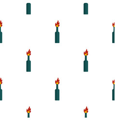 Fire bottle pattern seamless vector