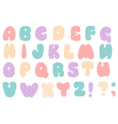 font for baenglish alphabet latin letters vector image