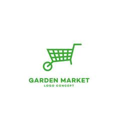 Garden market logo vector