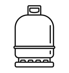 Gas cylinder compressed icon outline style vector