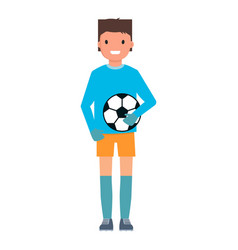 goalkeeper take ball icon flat style vector image
