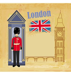 Grunge banner with London vector image