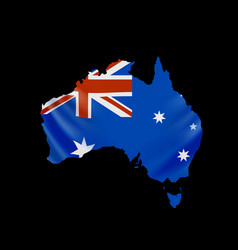 hanging australia flag in form map vector image