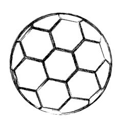 Isolated toy soccer ball design vector image