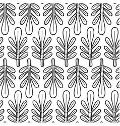 Line nice organic leaf plant background vector
