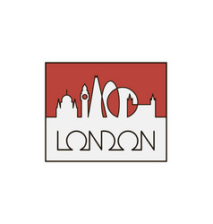 linear london city vector image