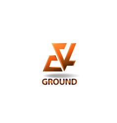 Logo element ground vector