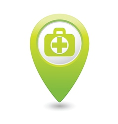 Medical icon green pointer2 vector