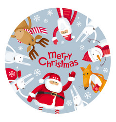 merry christmas plate vector image